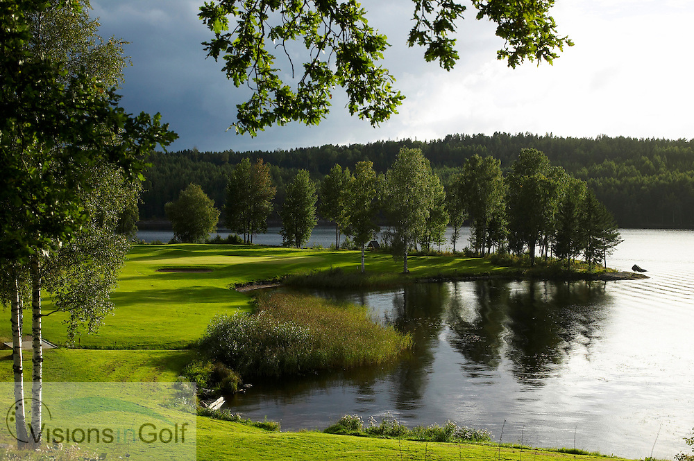 The 12th hole at Eda GC, Sweden<br />  <br /> Photo Visions In Golf/Christer Hoglund