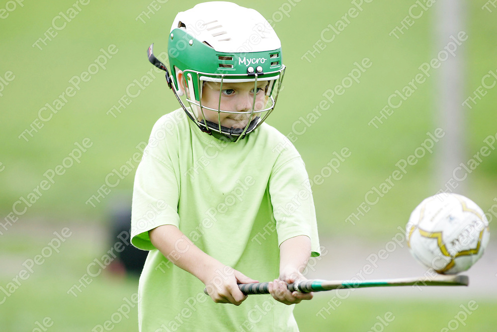 Ian Downws (age 6) pictured at the  Summer Camp in Wolfe Tones, Shannon on Friday. Pic. Brian Arthur/ Press 22.