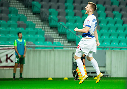 Rudi Požeg Vancaš of Celje celebrates after he scored second goal for Celje during football match between NK Olimpija Ljubljana and NK Celje in 3rd Round of Prva liga Telekom Slovenije 2018/19, on Avgust 05, 2018 in SRC Stozice, Ljubljana, Slovenia. Photo by Vid Ponikvar / Sportida
