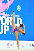 Sabina Ashirbayeva born November 5, 1998 is an individual Kazakh rhythmic gymnast. She is the 2016 Asian Championships All-around bronze medalist.