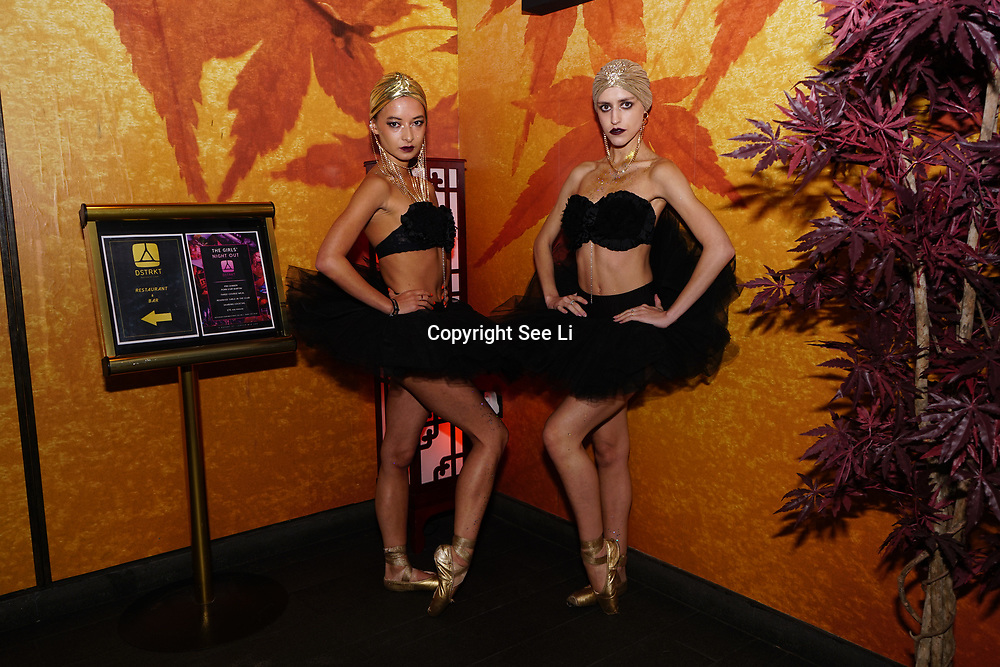 """London, Uk, 29th June 2017. Black Orchid Ballerinas preforms at Katie Price is back, with her official launch tonight of """"I Got You"""" Katies's first club anthem release at the award-winning celebrity nightclub and celebrity restaurant hotspot, DSTKRT."""