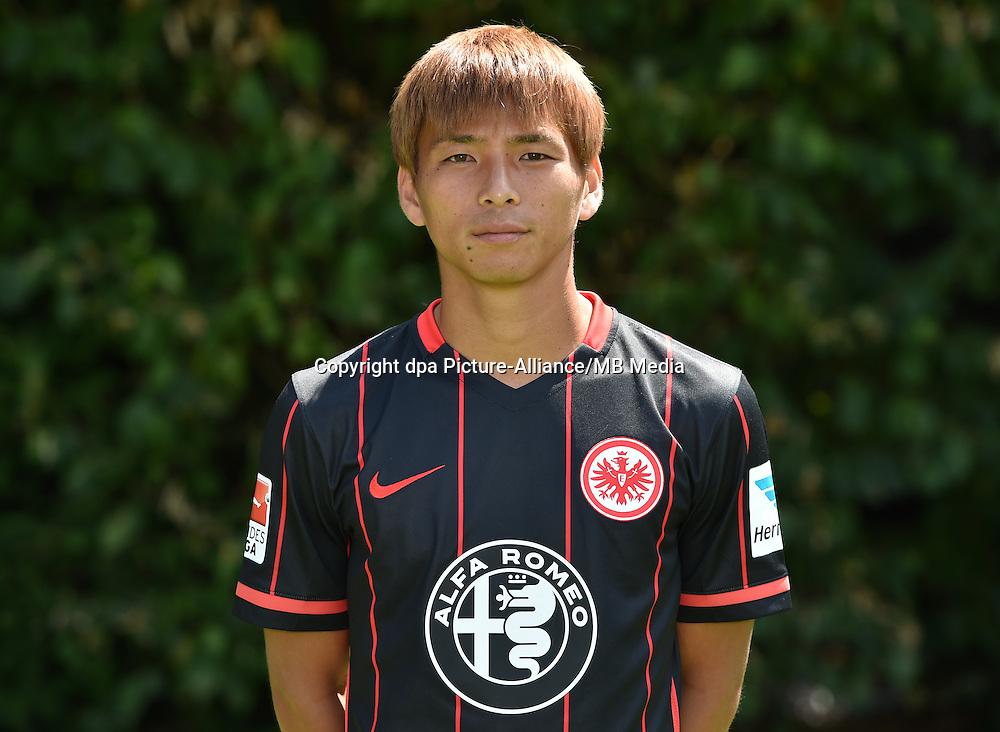 German Soccer Bundesliga 2015/16 - Photocall Eintracht Frankfurt on 15 July 2015 in Frankfurt, Germany: Takashi Inui.