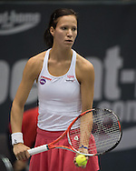 Viktorija Golubic (SUI) during the quarter finals of the WTA Generali Ladies Linz Open at TipsArena, Linz<br /> Picture by EXPA Pictures/Focus Images Ltd 07814482222<br /> 14/10/2016<br /> *** UK &amp; IRELAND ONLY ***<br /> <br /> EXPA-REI-161014-5022.jpg