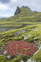 Landscape on Jan Mayen in the North Atlantic, Norway.