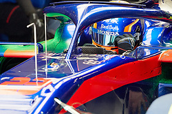 February 19, 2019 - Montmelo, BARCELONA, Spain - Alexander Albon (Red Bull Toro Rosso Honda) seen in action during the winter test days at the Circuit de Catalunya in Montmelo (Catalonia), Tuesday, February 19, 2019. (Credit Image: © AFP7 via ZUMA Wire)