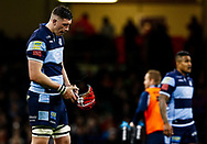Seb Davies of Cardiff Blues<br /> <br /> Photographer Simon King/Replay Images<br /> <br /> Guinness PRO14 Round 21 - Cardiff Blues v Ospreys - Saturday 27th April 2019 - Principality Stadium - Cardiff<br /> <br /> World Copyright © Replay Images . All rights reserved. info@replayimages.co.uk - http://replayimages.co.uk