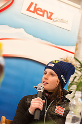 28.12.2013, Hauptplatz, Lienz, AUT, FIS Weltcup Ski Alpin, Lienz, Damen, Siegerehrung Riesentorlauf mit anschließender Auslosung der Startnummern fuer Slalom, im Bild TEXT // during the victory ceremony of the giant slalom and the bip draw for slalom, Lienz FIS Ski Alpine World Cup at Hautpplatz in Lienz, Austria on 2013/12/28, EXPA Pictures © 2013 PhotoCredit: EXPA/ Michael Gruber