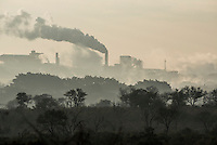 Paper making plant spewing pollution into the air, Malelane, Limpopo, South Africa