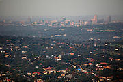 Sandton and the Northern suburbs of Johannesburg - The worlds largest man made forest. As seen from Northcliff hill and water tower. South Africa..© Zute Lightfoot www.lightfootphoto.com