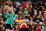 Country artist Sarah Marince performs for the crowd before the John McCain campaign rally at Ohio University Lancaster Sunday, October 26.