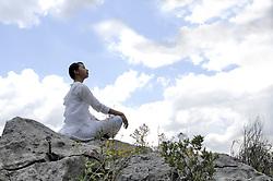 Apr. 08, 2008 - Woman meditating . Model and Property Released (MR&PR) (Credit Image: © Cultura/ZUMAPRESS.com)