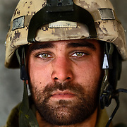 Aug 13, 2009 - Kandahar Province, Afghanistan - Canadian Soldier Mcpl Logan Spiegel age 22, seen after a Patrol in extreme heat in the volatile Panjway District located west of Kandahar City, Afghanistan. This is Canada's first combat deployment since the Korean War. Canada has suffered one of the highest casualty rates of the war in Afghanistan and has announced that it will be pulling out all Canadian combat troops by 2011. <br /> The Canadian Press Images/Louie Palu<br /> CANADIAN SALES AND USE ONLY. NO INTERNATIONAL SALES OR USE.