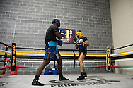 Lyman Good trains for his upcoming fight at Madison Square Garden in New York, New York on September 30, 2016.