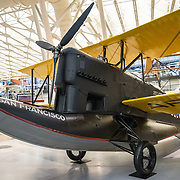 The Loening OA-1A San Francisco amphibious aircraft (dating to 1926) on display at the Smithsonian National Air and Space Museum's Udvar-Hazy Center. Located near Dulles Airport, the Udvar-Hazy Center is the second public facility of the Smithsonian's National Air and Space Museum. Housed in a large hangar are a multitude of planes, helicopter, rockets, and space vehicles.