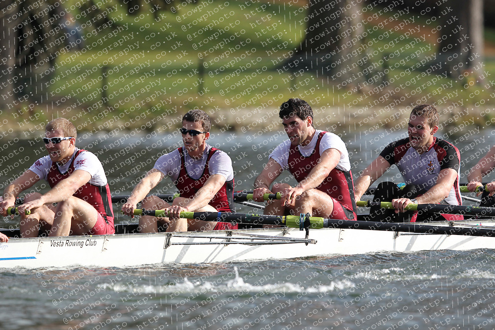 2012.02.25 Reading University Head 2012. The River Thames. Division 1. Vesta Rowing Club IM1 8+.