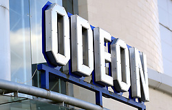 A general view of signage for the Odeon