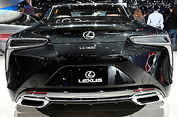 Nov 16, 2016. Los Angeles CA. Lexus LC500 on display during the media day at the Los Angeles Auto show Wednesday. The show opens to the public on Nov 18th to the 27th. photos by Gene Blevins/LA DailyNews/ZumaPress. (Credit Image: © Gene Blevins via ZUMA Wire)