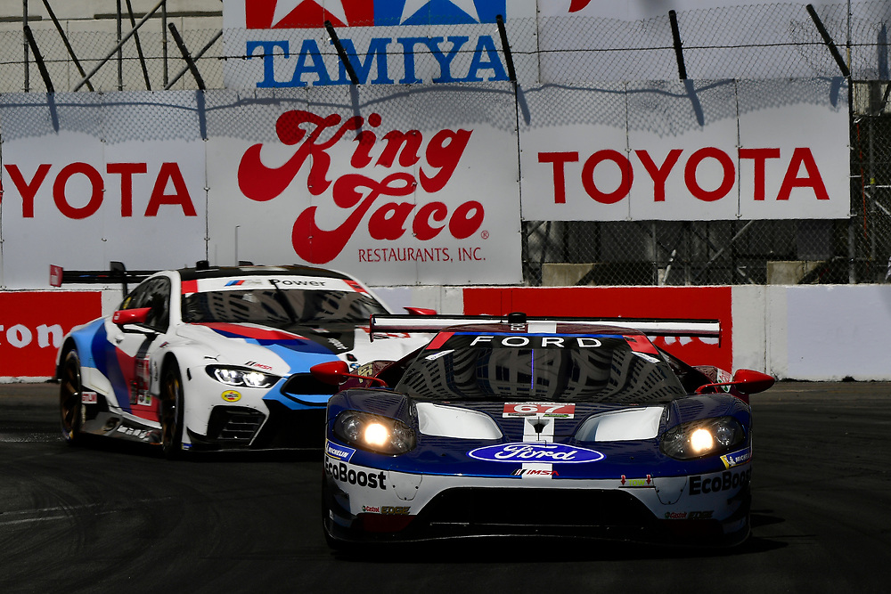 #67 Chip Ganassi Racing Ford GT, GTLM: Ryan Briscoe, Richard Westbrook<br /> Saturday 14 April 2018<br /> BUBBA burger Sports Car Grand Prix at Long Beach<br /> Verizon IndyCar Series<br /> Streets of Long Beach CA USA<br /> World Copyright: Scott R LePage<br /> LAT Images
