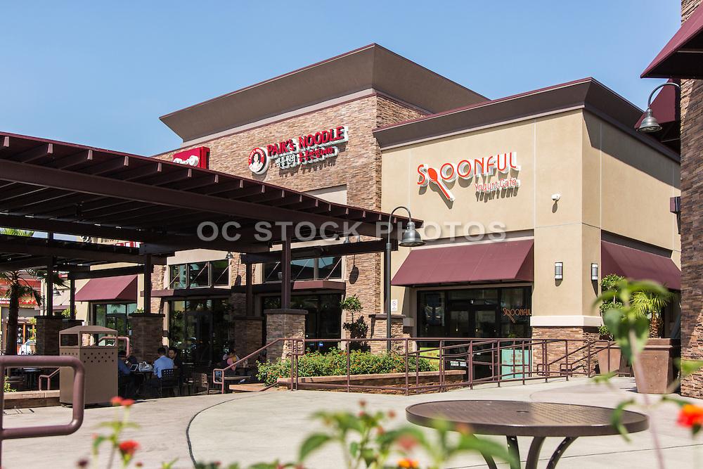 Restaurants at Village Circle Shopping Center Buena Park