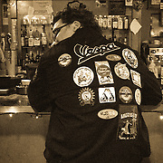 Vespa patch jacket, Bob Brown, Cafe Racer, Seattle, Washington