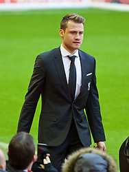LIVERPOOL, ENGLAND - Sunday, January 17, 2016: Liverpool's goalkeeper Simon Mignolet arrives before the Premier League match against Manchester United at Anfield. (Pic by David Rawcliffe/Propaganda)
