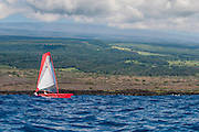 Hobie Adventure Island sailing kayak off the Big Island of Hawaii.