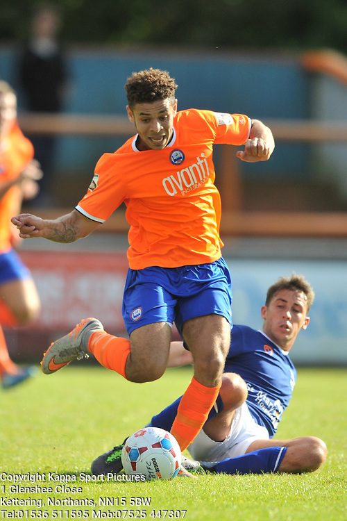 Jordan Chiedozie Braintree Town, Braintree Town v Barrow AFC, Avanti Stadium Braintree, Vanarama National League, Saturday, 12th September 2015.