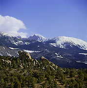 BB00869-03...NEVADA - The Snake Range and the 13,063-foot Wheeler Peak....