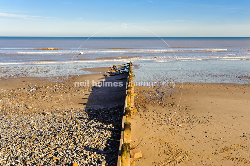 Sea defence Hornsea seafront