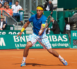 MONTE-CARLO, MONACO - Sunday, April 18, 2010: Rafael Nadal (ESP) during the Men's Singles Final on day seven of the ATP Masters Series Monte-Carlo at the Monte-Carlo Country Club. (Photo by David Rawcliffe/Propaganda)