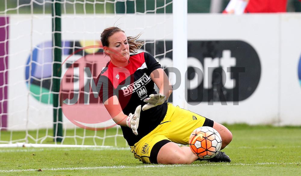 Hannah Reid goalkeeper for Bristol City Women warms up - Mandatory by-line: Robbie Stephenson/JMP - 27/08/2016 - FOOTBALL - Stoke Gifford Stadium - Bristol, England - Bristol City Women v Everton Ladies - FA Women's Super League 2