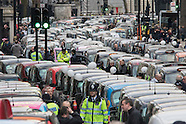 Taxi drivers go-slow 100216