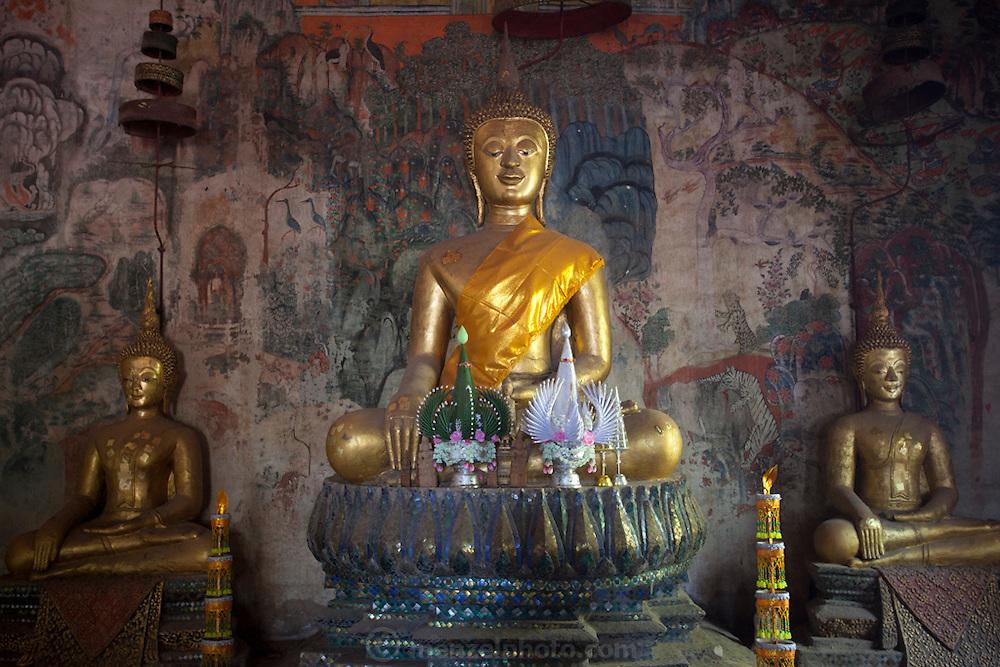 Wat Aham Buddhist Temple in Luang Prabang, Laos.