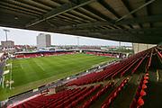 Alexandra Stadium, home of Crewe Alexandra during the EFL Sky Bet League 2 match between Crewe Alexandra and Forest Green Rovers at Alexandra Stadium, Crewe, England on 27 April 2019.