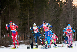 Ola Vigen Hattestad (NOR), Dietmar Noeckler (ITA), Renaud Jay (FRA) and Gleb Retivykh (RUS) during the Man team sprint race at FIS Cross Country World Cup Planica 2016, on January 17, 2016 at Planica, Slovenia. Photo By Urban Urbanc / Sportida