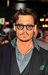 "© licensed to London News Pictures. London, UK  12/05/11 Johnny Depp attends the UK premiere of Pirates of the Carribean 4 ""on Stranger Tides"" at Londons Westfield . Please see special instructions for usage rates. Photo credit should read AlanRoxborough/LNP"