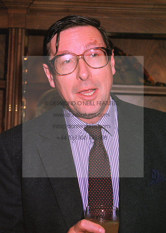 MAX HASTINGS editor of the Evening Standard, at a party in London on 18th November 1997.MDK 38