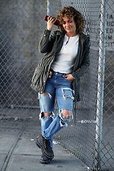"Jennifer Lopez films ""Shades Of Blue"" in the Bronx, New York City. 01 Aug 2017 Pictured: Jennifer Lopez. Photo credit: SteveSands/NewYorkNewswire/MEGA TheMegaAgency.com +1 888 505 6342"