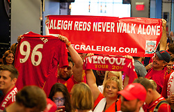 CHARLOTTE, USA - Friday, August 1, 2014: Liverpool supporters at the Whisky River bar on day twelve of the club's USA Tour. (Pic by David Rawcliffe/Propaganda)