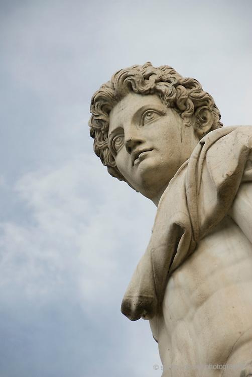 Statue of Roman Warrior in Rome, Italy