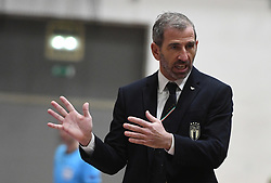 Alessio Musti, head coach of Italy, during futsal friendly match between National teams of Slovenia and Italy, on December 3, 2019 in Maribor, Slovenia. Photo by Milos Vujinovic / Sportida