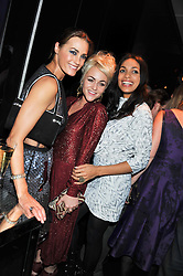 Left to right, YASMIN LE BON, JAIME WINSTONE and ROSARIO DAWSON at a party to celebrate the launch of the new Vertu Constellation phone - the luxury phonemakers first touchscreen handset, held at the Farmiloe Building, St.John Street, Clarkenwell, London on 24th November 2011.