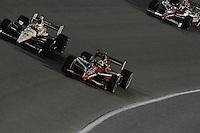 Ryan Briscoe, Scott Dixon, Ryan Hunter-Reay, Cafes do Brasil Indy 300, Homestead Miami Speedway, Homestead, FL USA,10/2/2010