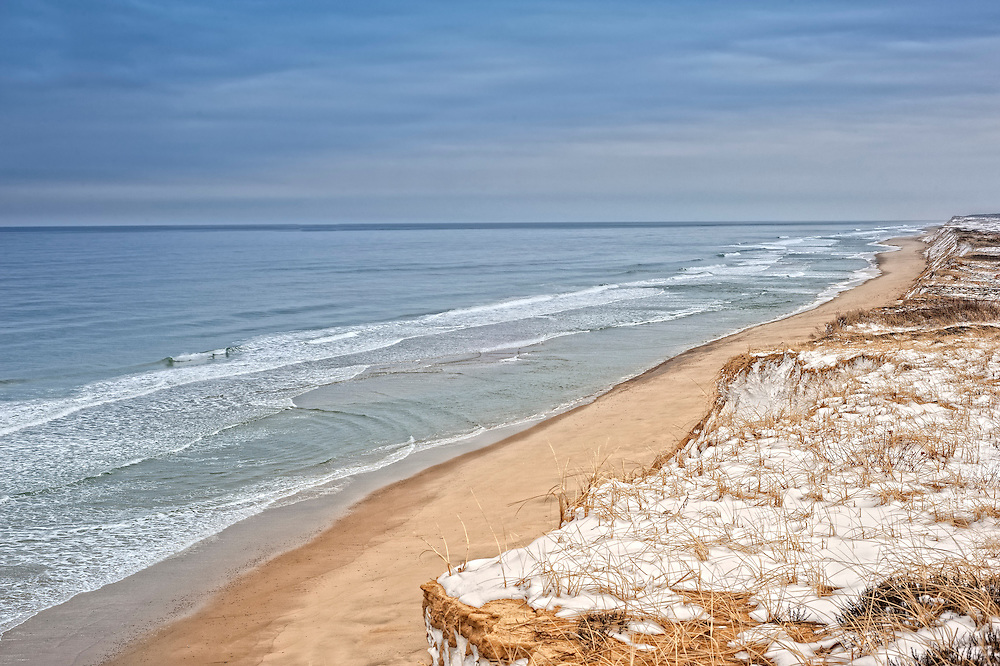 The dunes along the Cape Cod National Seashore at Marconi Station in Wellfleet, MA