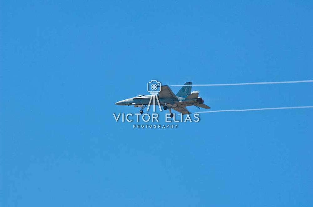 F-18 Hornet plane at Camarillo Airshow 2010. California, USA.
