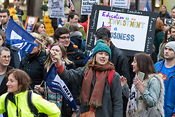 Westminster, London, March 23rd 2016. Hundreds of teachers converge on Westminster and march from Westminster Cathedral to a rally at the Emmanuel Centre in protest against Education Secretary Nicky Morgan's plan to convert all schools into academies. &copy;Paul Davey<br /> FOR LICENCING CONTACT: Paul Davey +44 (0) 7966 016 296 paul@pauldaveycreative.co.uk