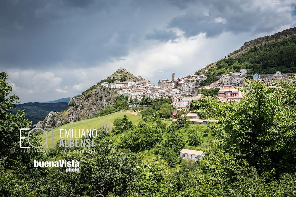 San Fele, Basilicata, Italia, 10/06/2016<br /> Panorama di San Fele, in provincia di Potenza.<br /> <br /> San Fele, Basilicata, Italy, 10/06/2016<br /> A landscape of San Fele town, near Potenza.