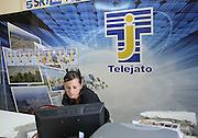 Partinico: the daughter and colleague Letizia of the anti-mafia journalist Pino Maniaci of Telejato channel.<br /> Partinico:Letizia figlia e collaboratrice del  giornalista antimafia Pino Maniaci di telejato