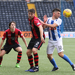 Both David Smith and Greg Taylor look for the ball  during the Kilmarnock v Dumbarton Betfred Cup Group E  29nd July 2017 <br /> <br /> <br /> <br /> <br /> (c) Andy Scott | SportPix.org.uk