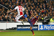 Onderwerp/Subject: Ajax - FC Barcelona - Champions League<br /> Reklame:  <br /> Club/Team/Country: <br /> Seizoen/Season: 2013/2014<br /> FOTO/PHOTO: Danny HOESEN (L) of Ajax in duel with Martin MONTOYA ( Martin Montoya TORRALBO ) (R) of FC Barcelona. (Photo by PICS UNITED)<br /> <br /> Trefwoorden/Keywords: <br /> #04 $94 &plusmn;1377840750319<br /> Photo- &amp; Copyrights &copy; PICS UNITED <br /> P.O. Box 7164 - 5605 BE  EINDHOVEN (THE NETHERLANDS) <br /> Phone +31 (0)40 296 28 00 <br /> Fax +31 (0) 40 248 47 43 <br /> http://www.pics-united.com <br /> e-mail : sales@pics-united.com (If you would like to raise any issues regarding any aspects of products / service of PICS UNITED) or <br /> e-mail : sales@pics-united.com   <br /> <br /> ATTENTIE: <br /> Publicatie ook bij aanbieding door derden is slechts toegestaan na verkregen toestemming van Pics United. <br /> VOLLEDIGE NAAMSVERMELDING IS VERPLICHT! (&copy; PICS UNITED/Naam Fotograaf, zie veld 4 van de bestandsinfo 'credits') <br /> ATTENTION:  <br /> &copy; Pics United. Reproduction/publication of this photo by any parties is only permitted after authorisation is sought and obtained from  PICS UNITED- THE NETHERLANDS